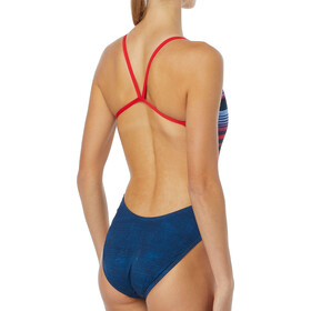 TYR Liberty Cutoutfit Badpak Dames, red/white/blue
